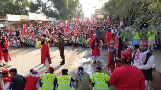 Majlis e Ahrar procession in Rabwah